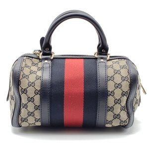Authentic Gucci Small Vintage Boston Satchel Bag
